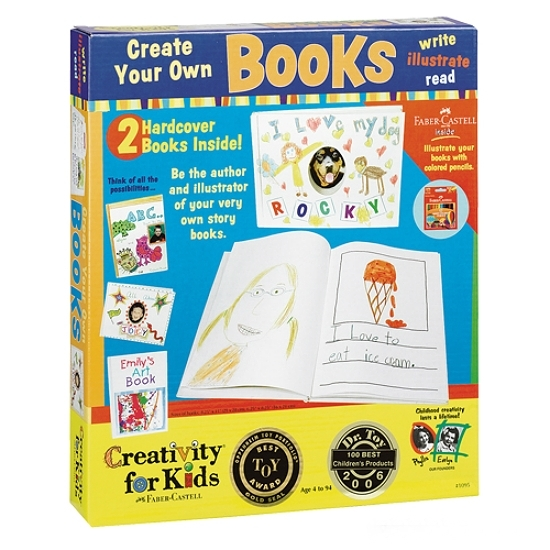 Creativity for kids create your own books craft kit by for Design your own house for kids