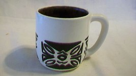 Tan & Brown Hawaiian Ceramic Coffee Cup by Kiln... - $19.78