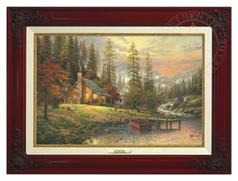 Thomas Kinkade - A Peaceful Retreat – Canvas Cl... - $375.00