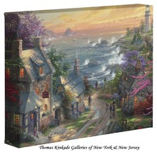 "Thomas Kinkade - Village Lighthouse  – 8"" x 10""... - $44.95"