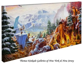 "Thomas Kinkade Wrap - ICE AGE – 16"" x 31"" Wrapped Canvas - $165.00"
