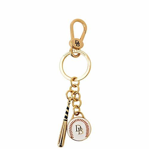 Dooney & Bourke Baseball Key Ring FOB Gold