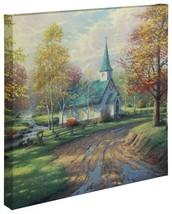 "Thomas Kinkade Wrap - Aspen Chapel – 20"" x 20"" ... - $155.00"