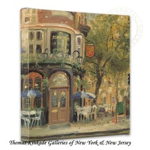 "Thomas Kinkade Wrap - Bloomsbury Cafe – 14"" x 1... - $75.00"