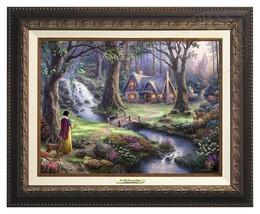 Thomas Kinkade Snow White Canvas Classic (Aged Bronze Frame) - $375.00