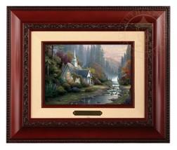 Thomas Kinkade Forest Chapel Framed Brushwork (Brandy Frame) - $89.00