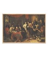 The Marriage Contract Dutch Artist Jan Steen Painter Hague Art Postcard - $6.69