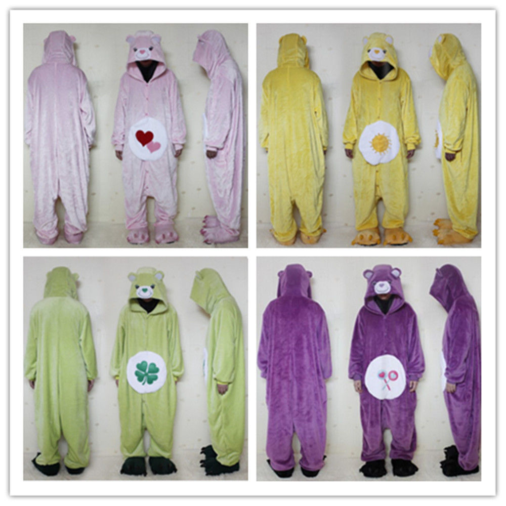 New Care Bears Adult Unisex Kigurumi Pajamas Animal Cosplay Costume Sleepwear** - $26.86
