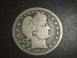1914 S Barber Quarter Very Scarce In Vg   5115 - $159.00