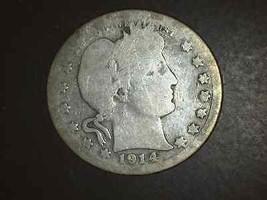 1914 S Barber Quarter Very Scarce   5116 - $99.00