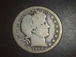 1914 S Barber Quarter Very Scarce   5118 - $99.00