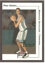 Pau Gasol Fleer Premium 01-02 #175 Premium Rookies #'d 1500 Memphis Chicago Bull - $7.50