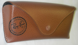 ray bans sunglasses case  genuine ray ban brown leather sunglasses case $12.49