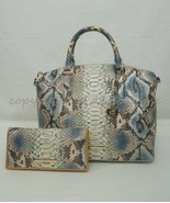 SET of Brahmin Duxbury Satchel/Shoulder Bag + Ady Wallet in Haven Roxanne - $429.00
