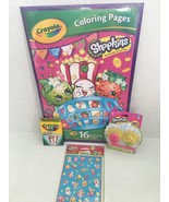 Crayola Shopkins Giant Coloring Book Activity Set With Crayons Erasers S... - $30.00