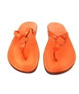 New Handmade Leather Sandals SATURN Womens Shoes Slippers Flip Flops Tho... - $34.99