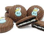 Philadelphia Candies Milk Chocolate Covered OREO Cookies, Blue Stork (It's a Boy