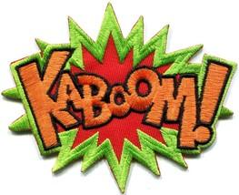 KABOOM! superhero comics retro fun embroidered applique iron-on patch S-... - $2.95
