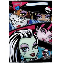 Monster High Zipper Style Plastic Favor Treat Bags 8 Ct Birthday Party S... - $3.22