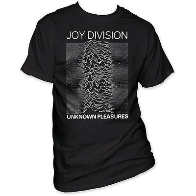 Joy Division T shirt Unknown Pleasures retro 80's alternative gothic cotton tee