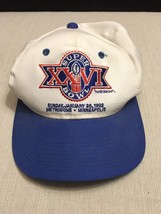 1992 Super Bowl XXVI 26 Snapback Cap Used Worn Washington Redskins Buffa... - $24.74
