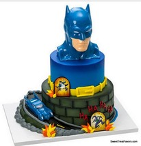 Batman BIRTHDAY Party Supplies Cake Topper Cupcake Justice League Marvel... - $19.75