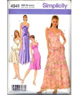 Uncut Size 6 8 10 12 Lined Special Occasion Dress Gown Simplicity 4941 P... - $8.99