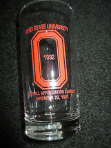VINTAGE OHIO STATE UNIVERSITY BANQUET FOOTBALL 1992 COLLECTOR GLASS SPORTS - $2.96