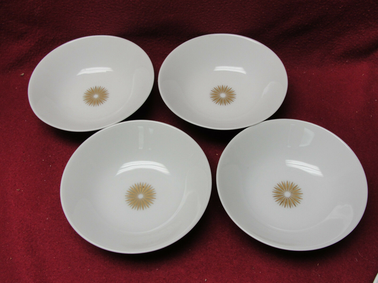 Primary image for Four (4) ROSENTHAL China - STAR OF DAWN (Classic Modern) - FRUIT/DESSERT BOWLS