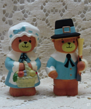 Vintage ENESCO Lucy Me Thanksgiving Pilgrim Bea... - $12.50