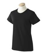 Black XL  G200L Gildan Women ultra cotton T-shirt Camiseta negra de mujer   - $7.17
