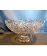 American Brilliant Style 5 Inch High Pedestal-Candy -Fruit Bowl  - $6.99
