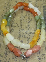 Very Rare! Magic Real Multi-color Jade Necklace Lucky Life Thai Buddha Amulets - $12.99
