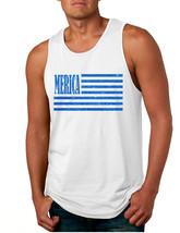 Men's Tank Top Merica Glitter Blue Flag 4th Of July Top - $15.94+