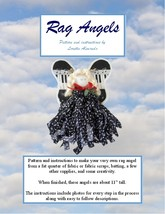 Paper Pattern for Rag Angels made from a fat quarter of fabric and scrap... - $9.99