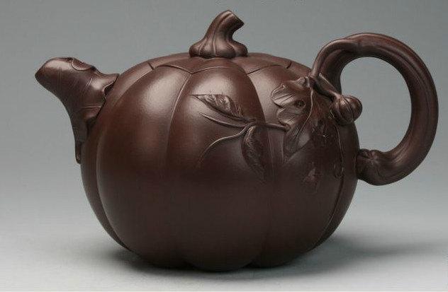 nan gua Teapot; Chinese GongFu TeaPot, YiXing Pottery Handmade zisha clay teapot