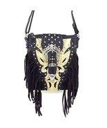 Western Rhinestone Buckle Fringe Messenger Bag ... - $34.98