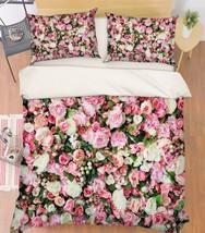 3D Flowers Wall Bed Pillowcases Quilt Duvet Cover Set Single Queen King Size AU - $90.04+