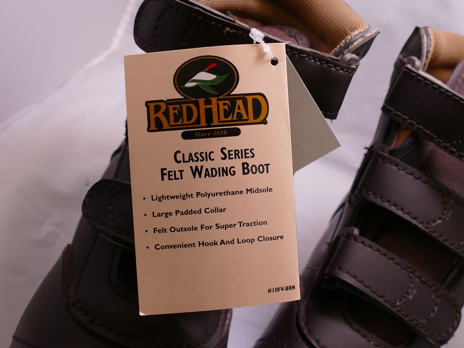 RedHead Classic Series Felt Wading Boots for Women or Boys Size W8 B6