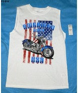 Faded Glory White Tee with Motorcycle  Sz L/G  (10/12) NWT - $8.99