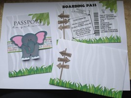 Passport Safari Invitation Set with Boarding Pass, envelope, Any Occasion - £14.64 GBP