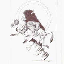 Original 2005 Buffalo Dancer Navajo Pen and Ink... - $299.00
