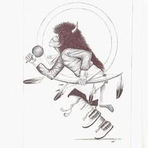 Original 2005 Buffalo Dancer Navajo Pen and Ink Sketch by Frankie C Nez ... - $299.00