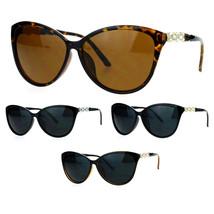 SA106 Rhinestone Iced Jewel Temple Goth Cat Eye Mod Sunglasses - $12.95