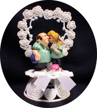 Bowler King Pin Bowling adorable Funny Wedding Cake Topper funny Outdoor nature - $37.42