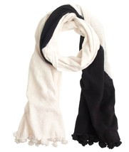 J.Crew Black and White Dip-Dyed Scarf - £24.87 GBP