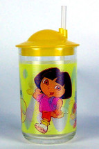 DORA THE EXPLORER CUP WITH STRAW. A set of two! - $8.00