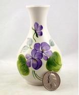 Vintage Wood & Sons Purple Violet mini vase Sta... - $15.00