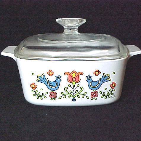 Corning Ware Casserole Dish Friendship Amish Rooster