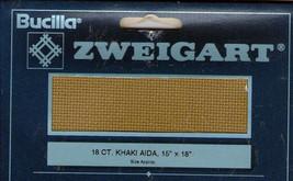 Zweigart Khaki 18ct Aida Cross Stitch Fabric - $5.00